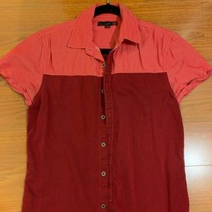 Guess Red Button Up Shirt